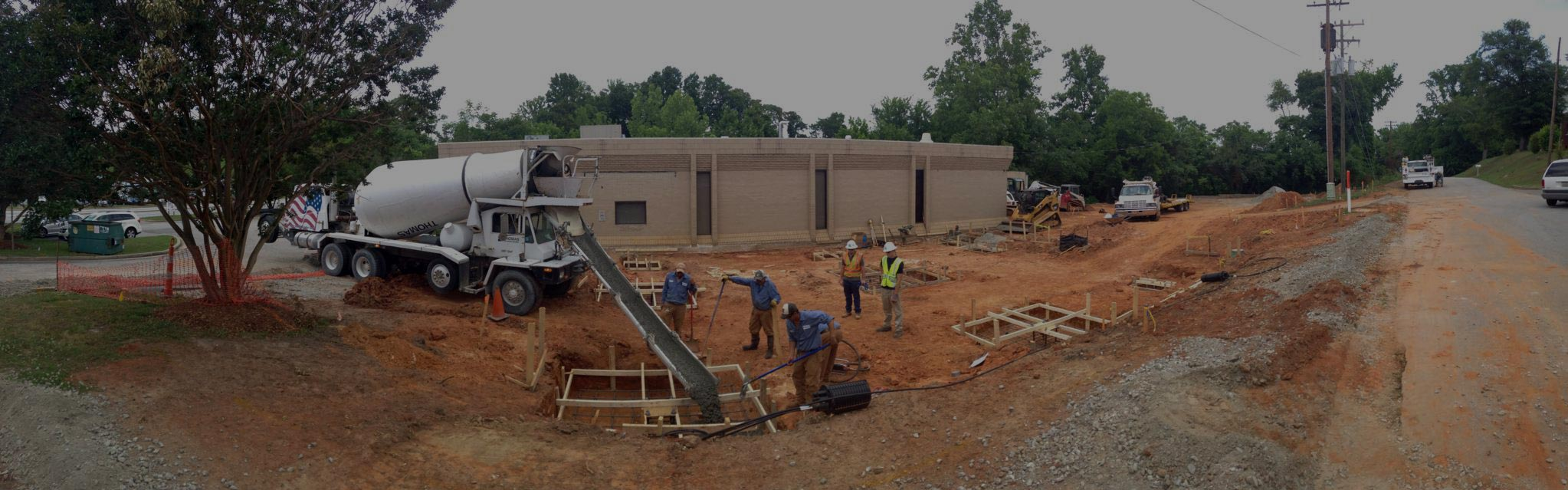 concrete pouring project in upstate, SC